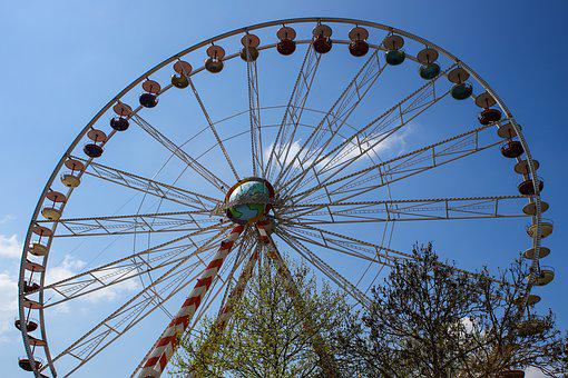 Ferris Wheel, Carousel, Fair, Year Market, Gondolas