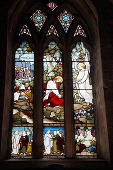 Angel, Jesus, Appearance, Window, Stained Glass Window