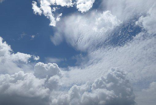 Sky, Clouds, Atmosphere, Blue, Cumulus, Cloudy