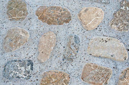 Wall, Concrete, Stones, Pattern, Texture, Background