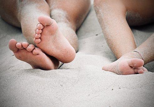 Feet, Barefoot, Sand, Relaxation, Legs, Skin, Summer