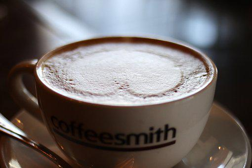 Coffee, Hart, Cup, Love, Cafe, Food, Cappuccino, Foam