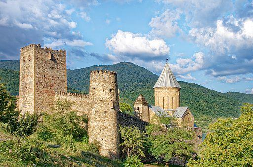 Georgia, Castle Ananuri, Church Of The Redeemer