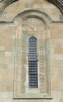 Georgia, Mtskheta, Church, Cathedral, Window, Wall