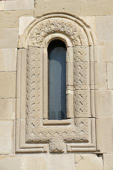 Georgia, Mtskheta, Church, Cathedral, Window, Wall