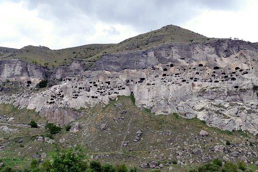 Georgia, Vardzia, Cave City, Mountain, Cave, Live