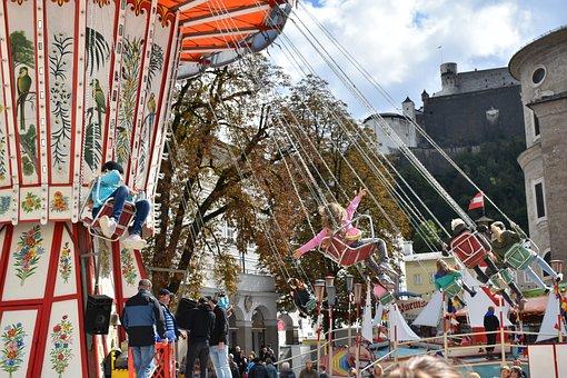 Carousel, Funfair, Fun, Children