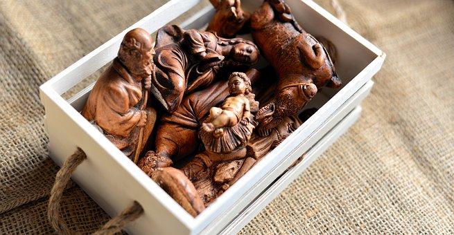 Christmas Crib Figures, Christmas, Figures, Box