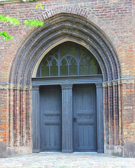 Portal, St Mary's Church, Church, Rostock, Architecture