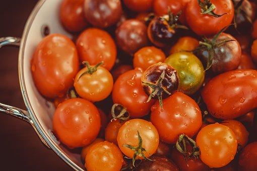 Tomatoes, Colorful, Bio, Vitamins, Nutrition, Kitchen