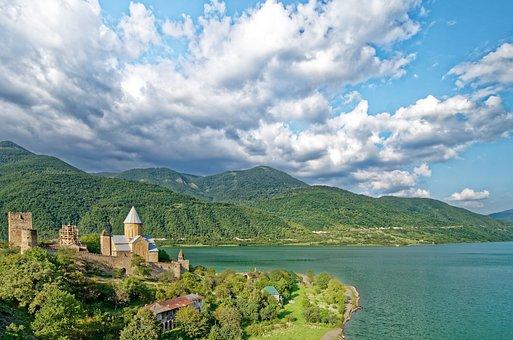 Georgia, Castle Ananuri, Fortress, Zhinvali Reservoir