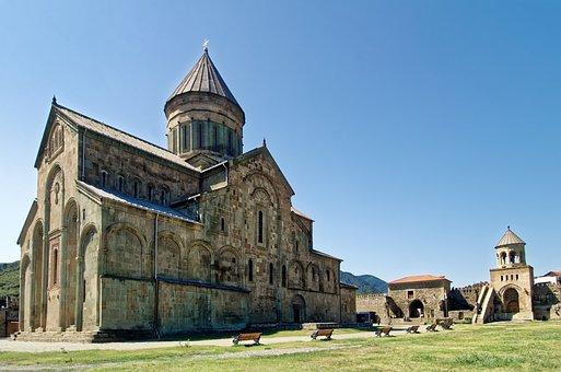 Georgia, Mtskheta, Svetitskhoveli Cathedral, Cathedral