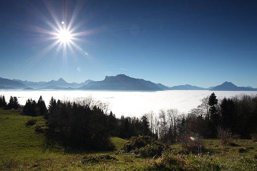 Clouds, Mountains, Sky, Landscape, Nature, Alpine, Hill