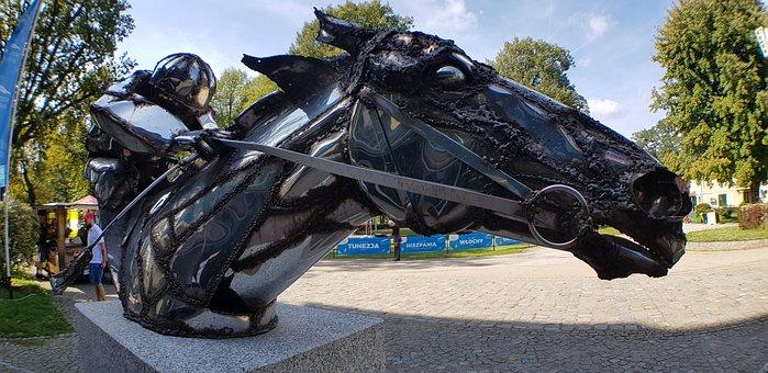 Galop, Jockey, On, Horse, Sculpture