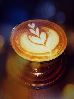 Coffee, Late Art, Latte, Barista