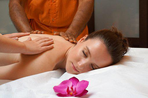 Woman, Young, Massage, Four Hands, Spa, Relaxation
