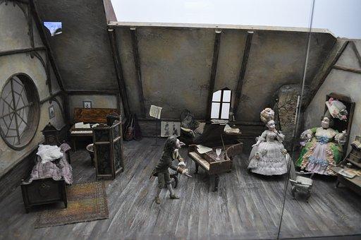 Room, Miniature, Dolls, Toys, Figurine, Model
