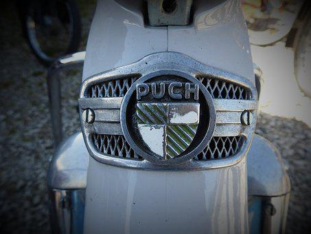 Puch, Old, Two Wheeled Vehicle, Motorcycle, Classic