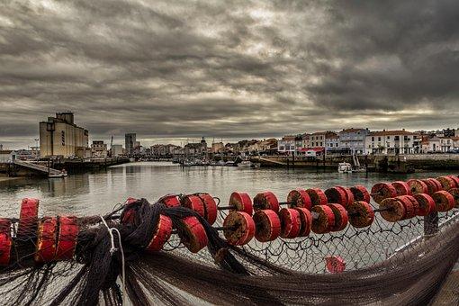 Port, Sea, Sky, Landscape, Clouds, Nature, Storm