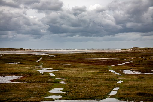 Texel, Netherlands, De Slufters, Nature, North Sea