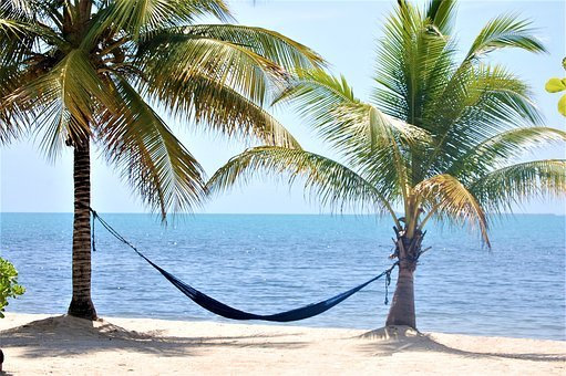 Placencia, Belize, Beach, Hammock, Ocean
