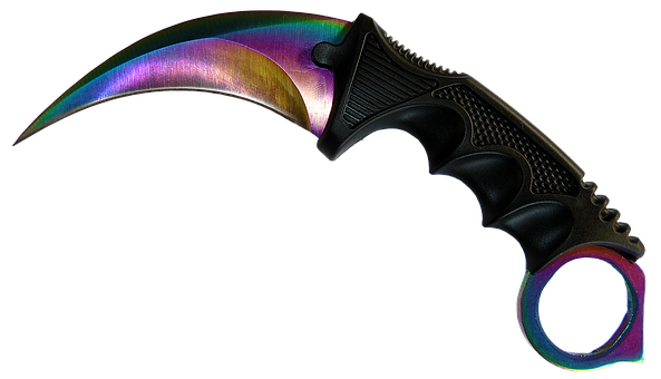 Knife, No Background, Handle, Edge, Rainbow