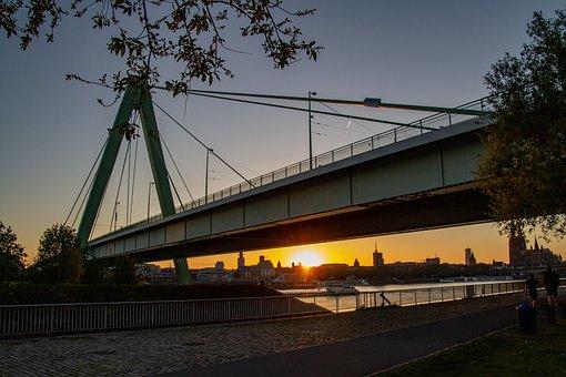 Cologne, Severin Bridge, Bridge, Rhine, Steel