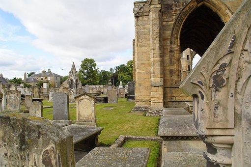 Elgin, Elgin Cathedral, Cemetery, Grave Stones, Ruin