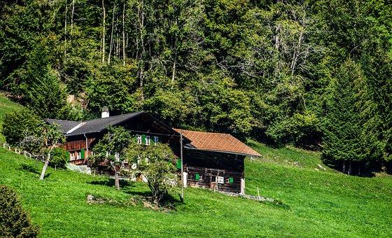 Chalet, Mountain, Nature, Rural, Switzerland