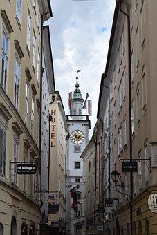 Church, Clock, Spire, Historical, Tower, Center