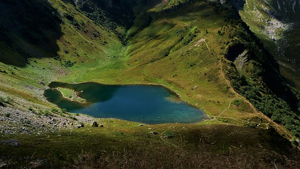 Lake, Nature, Alps, Landscape, Mountains, Summer