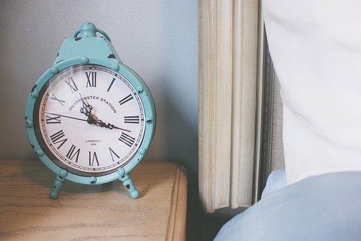 Clock, Teal, Bedroom, Nightstand, Alarm Clock