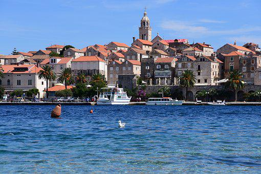 Croatia, Korčula, Water, Ancient City, Travel, Vacation