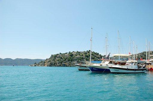 Sea, Journey, Turkey, Kekova, Island, Sky, Vacation