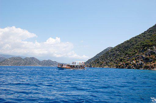 Sea, Journey, Turkey, Kekova, Island, Sky, Vacation