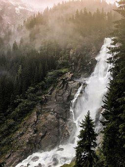 Nature, Water, Scenic, Rock, Bach, Forest, Waterfall
