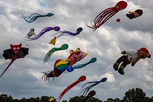 Dragons, Dragon Festival, Wind, Sky, Flying, Rise