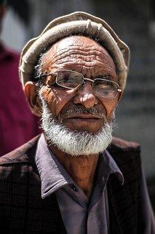 Old, Portrait, Wrinkles, Elderly, Man, Face, Beard