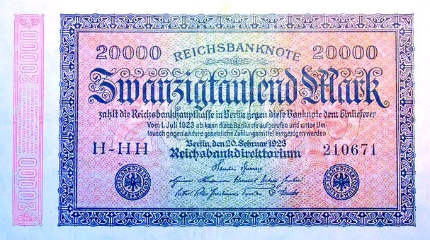 Inflation, Money, 1923, Imperial Banknote