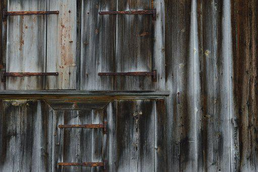 Alpine Hut, Almhof, Old Wood, Grain, Pattern, Old, Wood