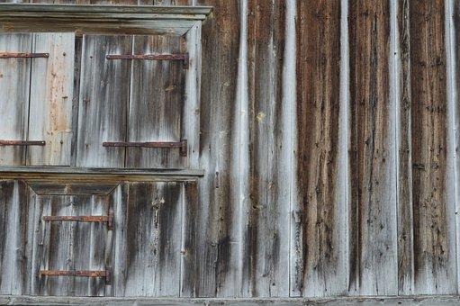 Alpine Hut, Almhof, Old Wood, Grain, Pattern, Old, Wood