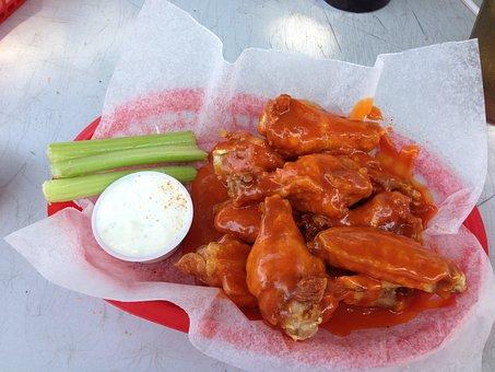 Chicken, Wings, Spicy, Buffalo Wings, Tasty, Appetizer