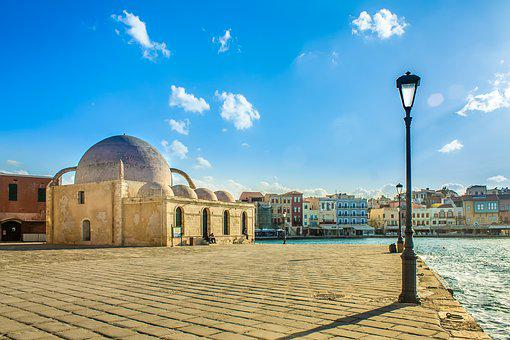 Old Town, Old City Marina, Architecture, Blue, Chania