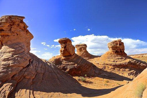 Antelope Canyon, Four Sister, Arizona, Sandstone