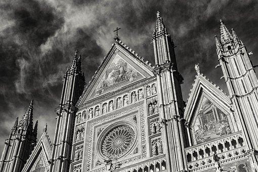 Faith, Religion, Church, Catholic, Dom, Black And White