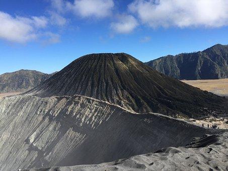 Volcano, Bromine, Indonesia