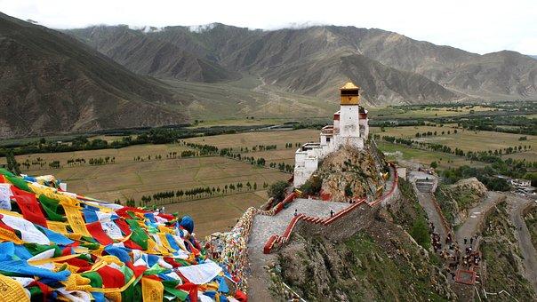 Tibet, Monastery, Buddhism, Temple Complex