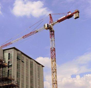 Crane, Construction, Work, Scaffolding, Building