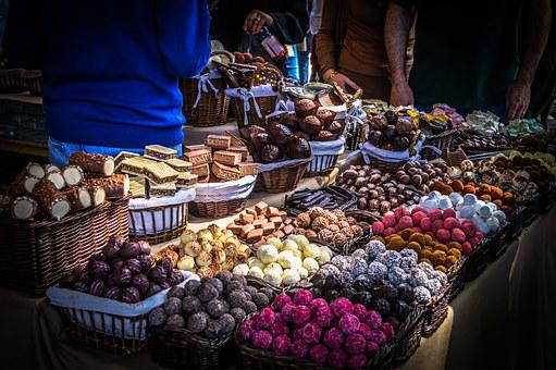 Market, Sweets, Candy, Traditional, Decoration