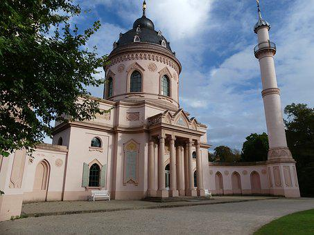 Closed Garden Schwetzingen, Mosque, Romantic, Castle